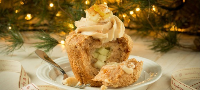 Apple & Cinnamon Strudel Muffins using Macphie Apple & Cinnamon Sensation