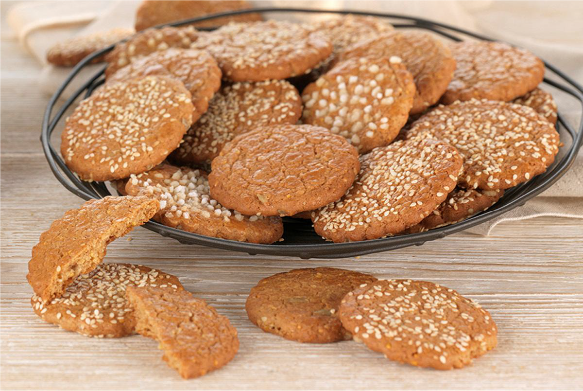 Dinkel-Cookies using Spelt and Honey