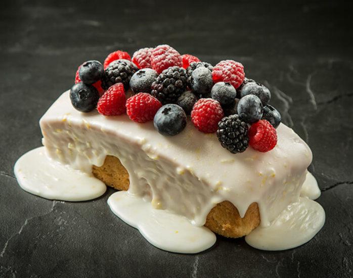 Vegan Lemon & Elderflower Loaf using Macphie Vegan Cake Mix