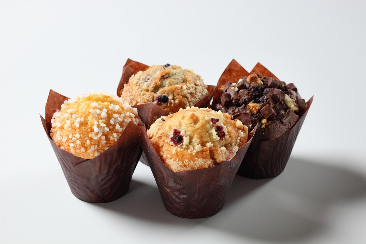 4 Muffins Plain