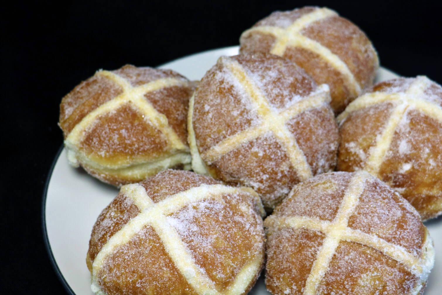 Hot Cross Bun Doughnuts
