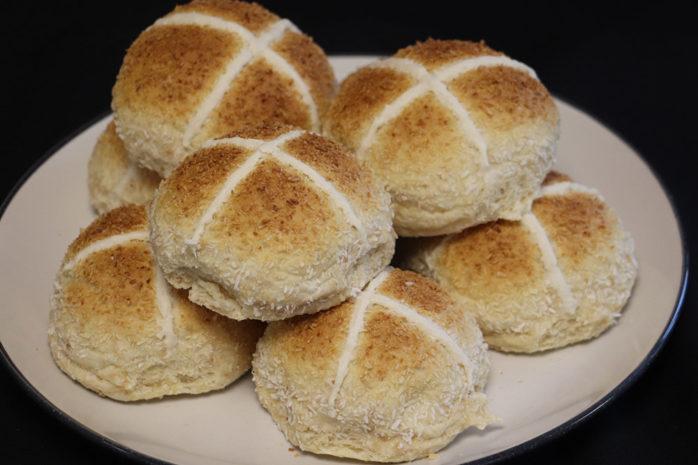Spiced Coconut Hot Cross Buns