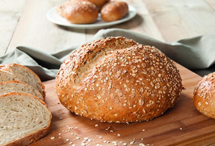 Chia Buckwheat Round Bloomer using Sonneveld Vitason Chia Buckwheat